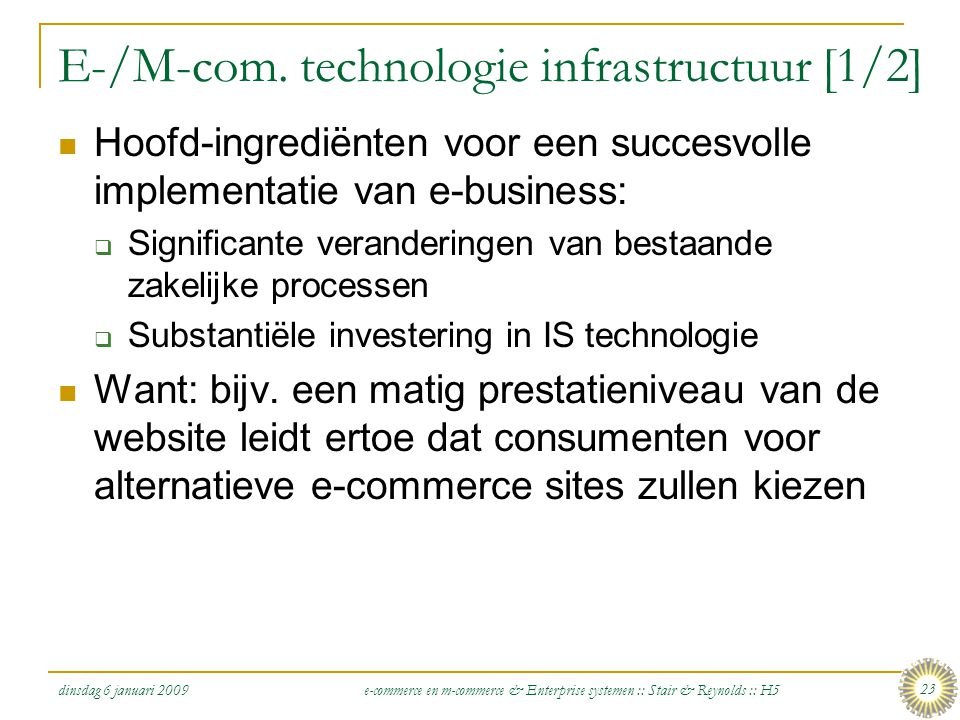 E-/M-com. technologie infrastructuur [1/2]